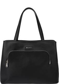 Черная сумка из сафьяновой кожи Fiato