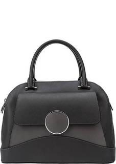Серая кожаная сумка через плечо с короткими ручками Fiato