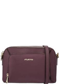 Маленькая бордовая сумка с двумя отделами Fiato