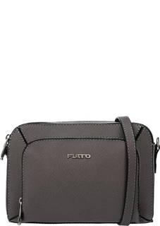 Серая кожаная сумка с двумя отделами Fiato
