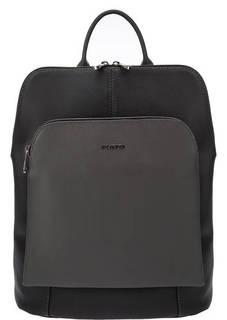 Серая сумка-рюкзак из сафьяновой кожи Fiato