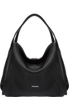 Кожаная сумка на двухзамковой молнии Fiato