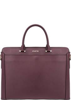 Бордовая сумка из сафьяновой кожи Fiato