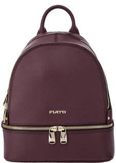 Бордовый рюкзак из сафьяновой кожи Fiato