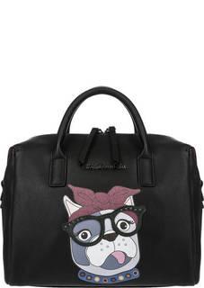 Черная сумка на двухзамковой молнии Tosca Blu