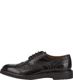Коричневые кожаные туфли с брогированием Pantanetti