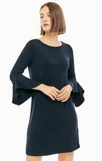 Трикотажное платье с воланами на рукавах Cinque