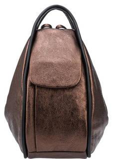 Кожаная сумка-рюкзак с тремя отделами Bruno Rossi