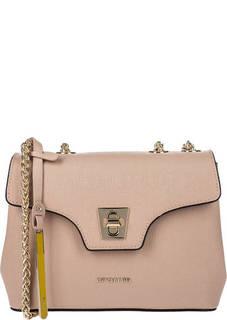 Маленькая бежевая сумка из сафьяновой кожи Cromia