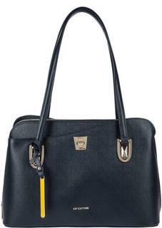 Кожаная сумка с двумя отделами и карманами Cromia