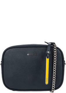 Маленькая синяя сумка из натуральной кожи Cromia