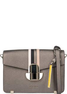 Маленькая кожаная сумка с двумя отделами Cromia