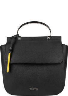 Кожаный рюкзак с металлической ручкой Cromia