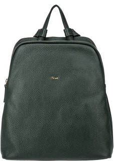Зеленый кожаный рюкзак с двумя отделами Bruno Rossi