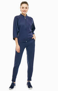 Костюм из толстовки и брюк синего цвета EA7