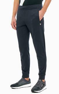 Однотонные хлопковые брюки джоггеры EA7