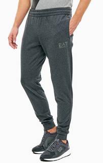 Серые брюки джоггеры из хлопка EA7