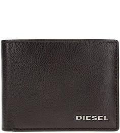Коричневое портмоне из натуральной кожи Diesel