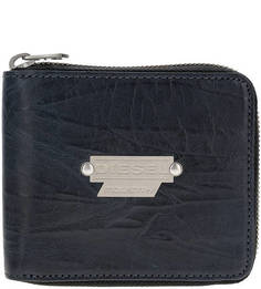 Синее портмоне из натуральной кожи Diesel