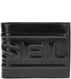 Черное портмоне из натуральной кожи Diesel