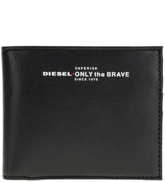 Кожаное портмоне с принтом Diesel
