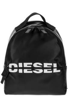 Черный рюкзак с логотипом бренда Diesel