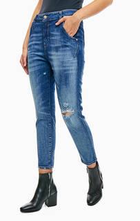 Рваные синие джинсы бойфренд с низкой посадкой Fayza-Evo Diesel