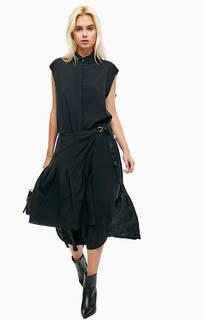 Платье-рубашка черного цвета Diesel