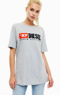 Хлопковая футболка с нашивками Diesel