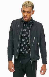 Легкая черная куртка на молнии Diesel