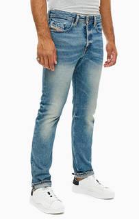 Зауженные джинсы синего цвета Buster Diesel