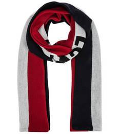 Трикотажный шарф с логотипом бренда Levis