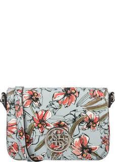 Разноцветная сумка с цветочным принтом через плечо Guess