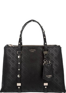 Черная сумка с дополнительным плечевым ремнем Guess