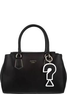 Черная сумка с текстильным плечевым ремнем Guess