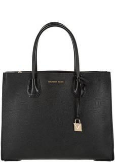 Кожаная сумка с двумя отделами Mercer Michael Kors
