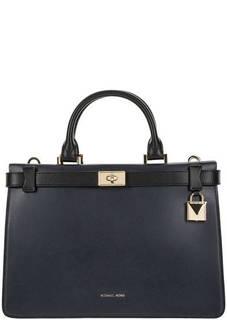 Кожаная сумка с двумя отделами Tatiana Michael Kors