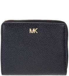Синий кошелек из зерненой кожи Money Pieces Michael Kors