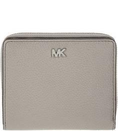 Серый кошелек из зерненой кожи Money Pieces Michael Kors