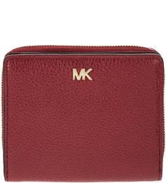 Бордовый кошелек из зерненой кожи Money Pieces Michael Kors