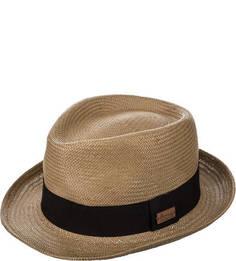 Соломенная шляпа с контрастной вставкой Herman