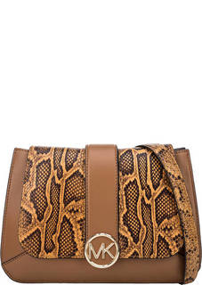 Кожаная сумка с откидным клапаном Lillie Michael Kors
