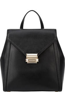 Рюкзак черного цвета из гладкой кожи Whitney Michael Kors