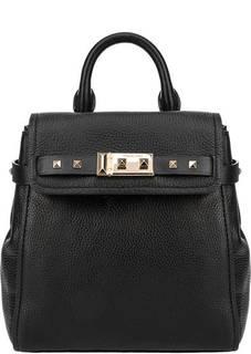 Маленький кожаный рюкзак с тонкими лямками Addison Michael Kors