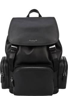 Вместительный кожаный рюкзак с отделением для ноутбука Henry Michael Kors