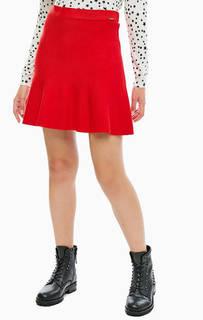 Расклешенная юбка красного цвета Liu Jo