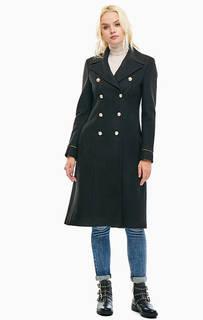 Двубортное пальто черного цвета Liu Jo
