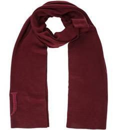 Бордовый шарф с логотипом бренда Trussardi Jeans