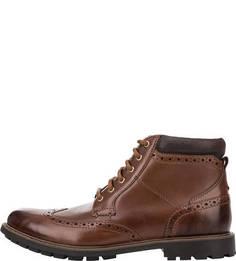 Кожаные ботинки с брогированием Curington Rise Clarks
