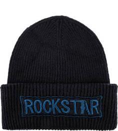 Трикотажная шапка с нашивкой Trussardi Jeans
